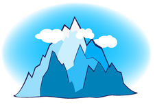 Mountain illustration Stock Image
