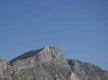 The mountain. Image captured from the car. The place is Ausonia, a small town in Italy Stock Photo