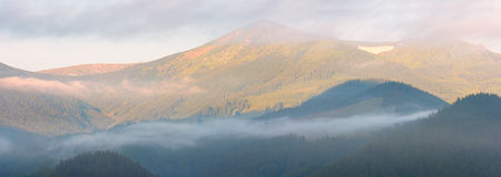 Mountain In Sunrise Light