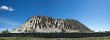 Mountain In The Abandoned Mines. Quarry And Old Prison Architecture. The Ashes Dunes Stock Photos