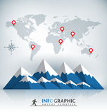 Mountain Infographic Template Stock Photo