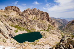 Mountain inspirational landscape in Corsica, France Royalty Free Stock Photography