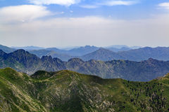 Mountain inspirational landscape in Corsica, France Stock Photography
