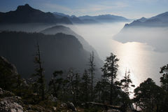 Mountain inversion Stock Images