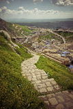 On mountain in Iraqi  Kurdistan region. Stairs in mountains in Iraqi countryside near Dohuk city Royalty Free Stock Images