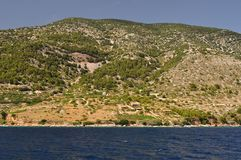 Mountain on Island Brac, Croatia Royalty Free Stock Photo