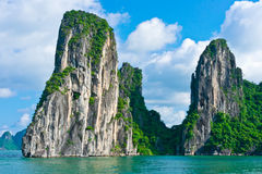 Mountain island in Halong Bay Royalty Free Stock Images