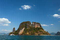 The mountain island in the sea Stock Photo