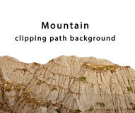 Mountain isolated. Background with clipping path Royalty Free Stock Photo