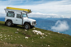 Mountain Terrain Jeep Journey Royalty Free Stock Image
