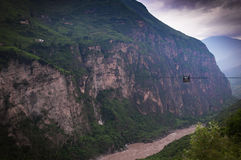 Mountain in the Jinsha River royalty free stock image