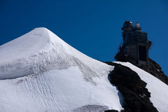 Mountain Jungfrau - Jungfraujoch, Switzerland. Swiss Alps in sunny August day Royalty Free Stock Photos