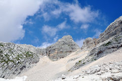 Mountain Kanin in the Julian Alps Royalty Free Stock Image