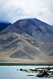 Mountain at the Karakul Lake Stock Photography
