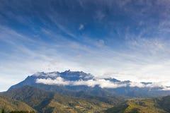 Mountain kinabalu. Under deep blue sky, Sabah, Borneo, Malaysia Royalty Free Stock Images