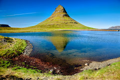 Mountain Kirkjufell, Western Iceland Royalty Free Stock Image