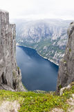 Mountain Kjerag in Norway Stock Photography