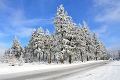 Mountain Klinovec in Ore Mountains  in winter Czech Republic Stock Photos