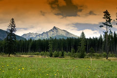 Mountain Krivan with clouds Royalty Free Stock Image