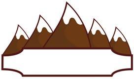 Mountain label Stock Photo