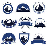 Mountain labels and icons set. Vector. Mountain labels and icons set Stock Image