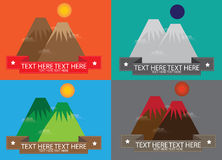 Mountain lable vector Stock Photo