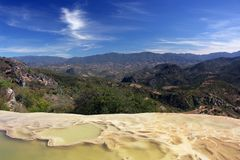 Mountain lagoon. Sierra Madre del Sur scenery in Hierve El Agua Stock Image