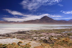 Mountain and Lagoon in San Pedro de Atacama, Chile Stock Images