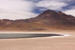 Mountain and Lagoon in San Pedro de Atacama, Chile Stock Photography