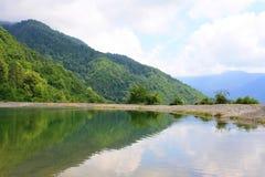 Mountain lake. Beautiful lake in mountain Abhazii on height around 1500 Stock Photography