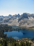Mountain Lake. Alice Lake in the Idaho Sawtooth Mountain range Stock Photo