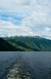 Mountain lake. Landscape photo of mountain lake, summer Royalty Free Stock Images