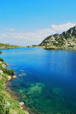 Mountain lake. With crystal clean water Royalty Free Stock Photo