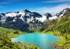 Mountain lake. Beautiful turquoise lake in Altai mountains Stock Photo