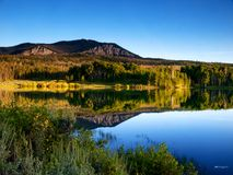 Mountain lake. Reflected view of mountains and lake Stock Photography