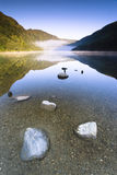 Mountain Lake. Upper Lake in Glendalough Scenic Park, Ireland Stock Photography