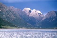 Mountain and lake stock photo