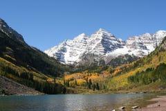 Mountain and lake. Mountain lake high the colorado mountains Royalty Free Stock Image