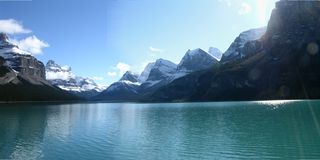 Mountain and Lake. Snow Caped mountain with Blue Lake Royalty Free Stock Photos