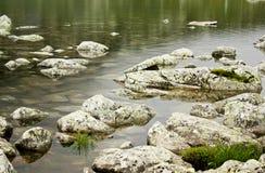 Mountain lake. Glacial Lake in National Park Retezat, Romania Royalty Free Stock Photo