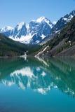 Mountain lake. Beautiful mountain lake in background Royalty Free Stock Images