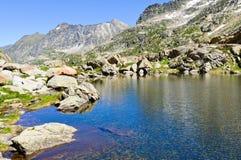 Mountain lake. In Pyrenees at summer Royalty Free Stock Photo