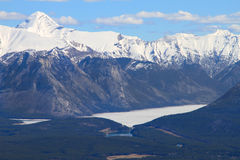 Mountain and Lake. Scenic view of Lake and Sulphur Mountain in Banff National Park, Alberta Canada Royalty Free Stock Photography
