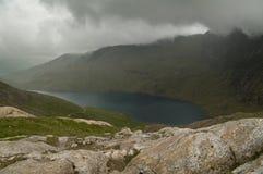 Mountain lake. Lake on mountain Snowdon, Wales Royalty Free Stock Photography