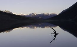 Mountain Lake. Lake Selfe in the South Island of New Zealand. A popular lake fly fishing for Trout Royalty Free Stock Images