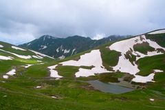 Mountain Lake. In West Caucasus Stock Photo