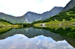 Mountain lake. In Western Tatras in Slovakia Royalty Free Stock Image