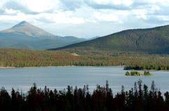 Mountain Lake 3. Colorado rocky mountain lake and forests Stock Photo