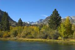 Mountain Lake. Fall foliage on edge of mountain lake Royalty Free Stock Photography