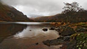 Mountain Lake. Lake by Mount Snowdon, snowdonia, wales uk Stock Photos